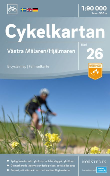 Sweden Cycling Map 26 - Mälaren West & Hjälmaren